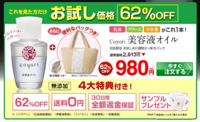 980円お試しLP